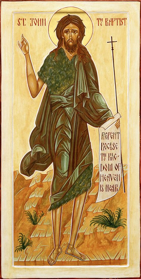 baptist john st birth baptizer bible prophet saint wilderness voice mother crying sunday story advent biblical nativity devil coptic days
