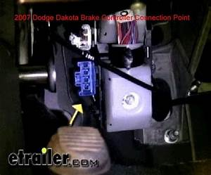 Location Of The Factory Brake Controller Plug In Location
