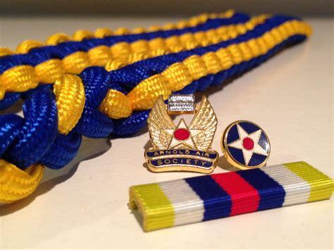 arnold air society cord ribbon  membership pin