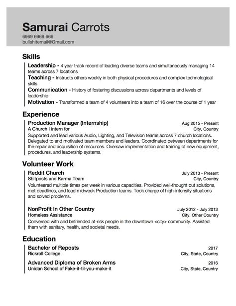 0 Experience Resume by No Experience Resume Sle Templates Template