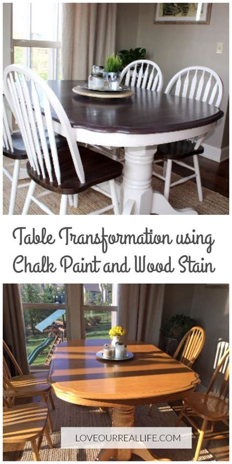 chalk paint kitchen table makeover dining table makeover