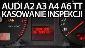 Kasowanie Inspekcji Audi A2  A3 8l  A4 B6  A6 C4  Tt