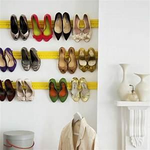 Schuhe Aufbewahren Ideen : schuhregal selber bauen 30 pfiffige diy ideen f r sie ~ Markanthonyermac.com Haus und Dekorationen