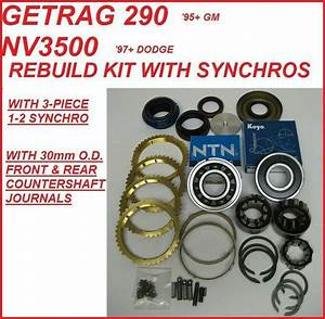 Nv3500 Nv3550  U0026 290 Getrag Transmission Rebuild Kit With