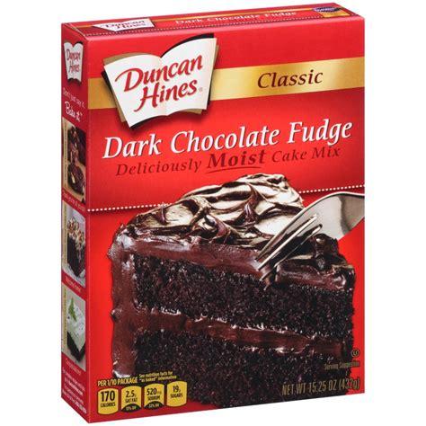 classic dark chocolate fudge cake mix duncan hines