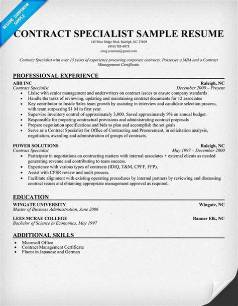 Resume For It Specialist by Resume Exles And Resume On