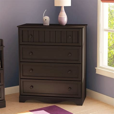 South Shore 6 Drawer Dresser Espresso by South Shore Handover 4 Drawer Chest In Espresso Finish