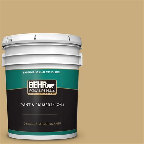 behr premium plus 5 gal ppu6 16 cup of tea semi gloss