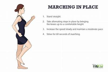 Marching Exercise Place Exercises Knee Knees Pain