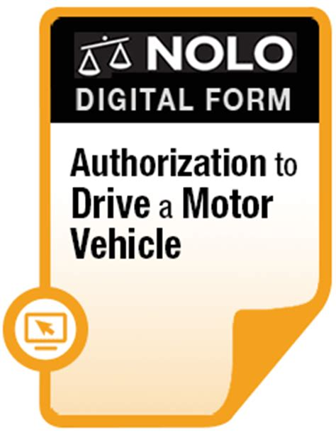 authorization  drive  motor vehicle  legal form