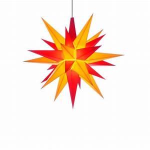 Herrnhuter Stern Beleuchtung : herrnhuter weihnachtsstern gelb rot aus kunststoff 13cm ~ Michelbontemps.com Haus und Dekorationen