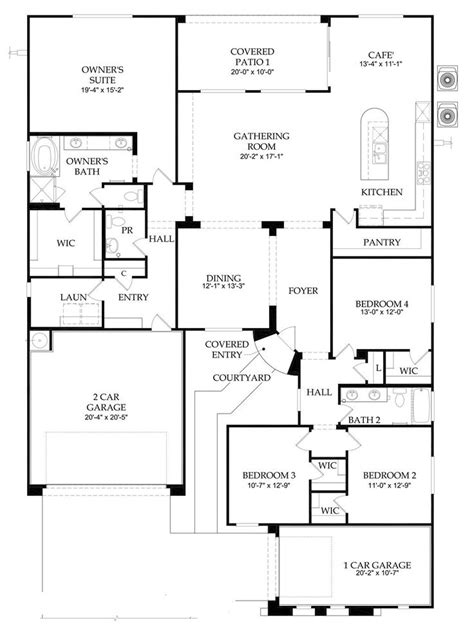 Centex Homes Floor Plans 1999 by Pulte Plan 2 669 Sf 4 2 5 1 Story Home