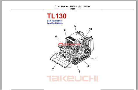 takeuchi excavator tl parts manual auto repair manual forum heavy equipment forums