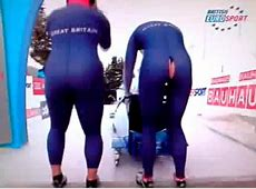 Bobsleigh rider Gillian Cooke shows her cheeky side as she