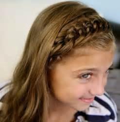 Cute Headband Hairstyle for School