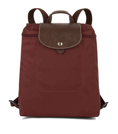 longchamp le pliage backpack  brown lyst