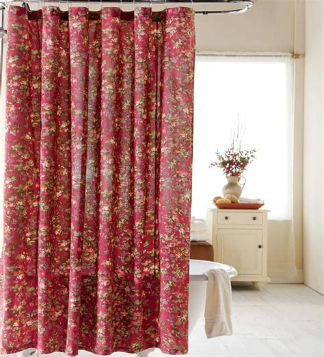 Cotton Floral Shower Curtain Plowhearth