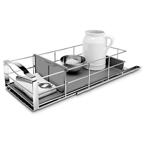 simplehuman 14 in pull out cabinet organizer simplehuman 9 in pull out cabinet organizer in polished