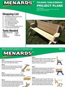 Folding Picnic Table Bench