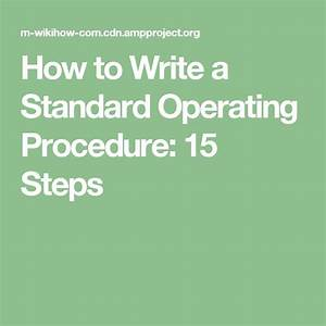 How To Make A Procedure Manual