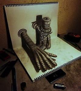 Dessin Fait Main : illusion d 39 optique ces dessins ont l 39 air de sortir de ~ Dallasstarsshop.com Idées de Décoration