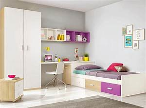 Chambre ado design multicolore avec lit 3 coffres for Amenagement chambre ado avec matelas eve prix