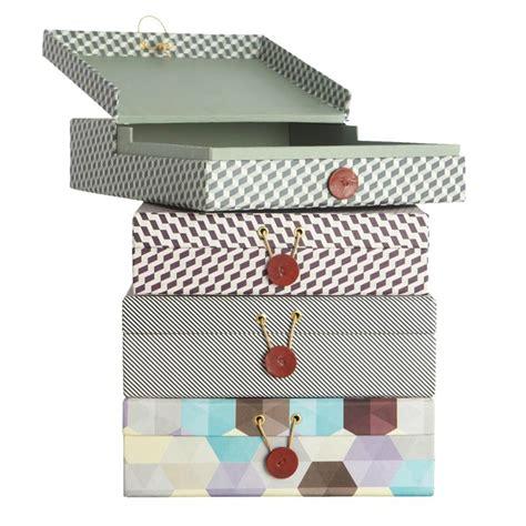 boite de rangement papier bureau house boite bureau craft panier de