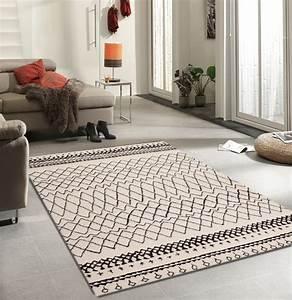 Tapis Salon Design : tapis en polypropyl ne contemporain d 39 int rieur couleur crem wood 2 ~ Teatrodelosmanantiales.com Idées de Décoration
