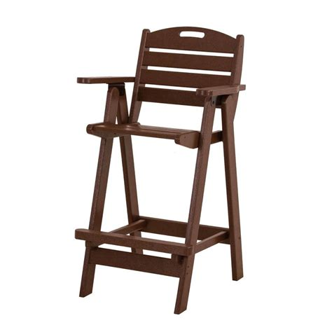 shop polywood slat seat recycled plastic patio bar height