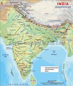 India Geography Maps  India Geography  Geographical Map Of India