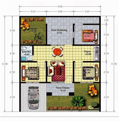 desain rumah mungil lebar  meter