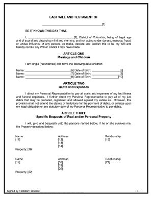 Last Will And Testament Free Template Maryland by Bill Of Sale Form Maryland Last Will And Testament Sle