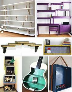 trash to treasure shelving units and storage ideas With wall mounted bookshelves made from recycled things