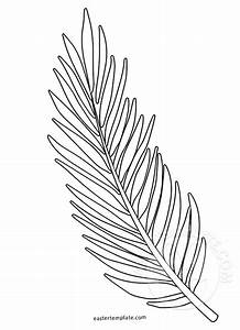palm leaf coloring sheets bltidm With palm branch template