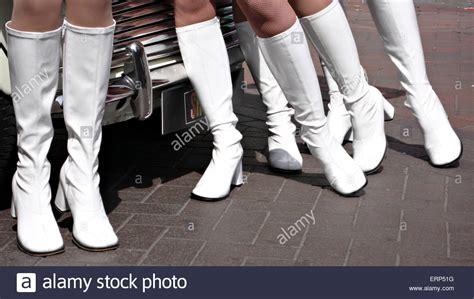 style models  white boots  union jack mini