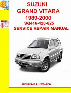 Suzuki Grand Vitara 1989-2000 Sq416-420-625 Service Repair M