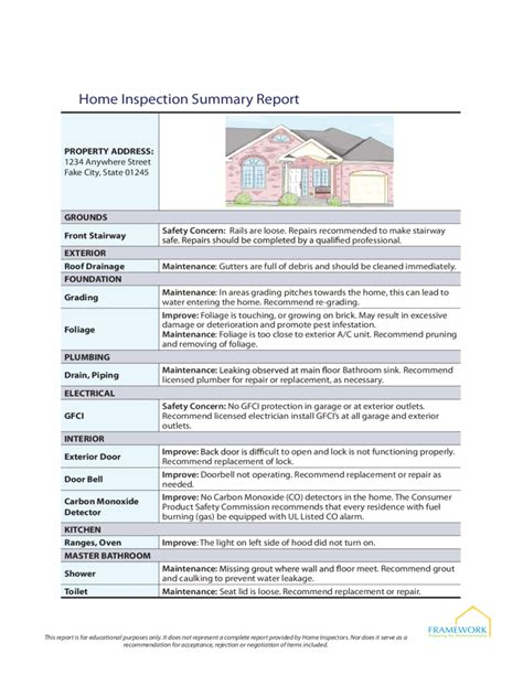 home inspection report home inspection report 3 free templates in pdf word excel