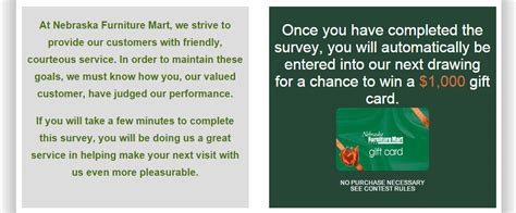nebraska furniture mart customer service survey www