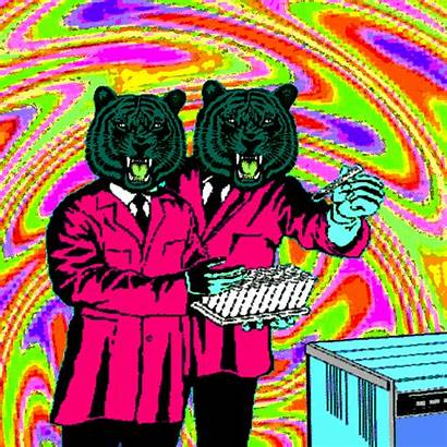 Collage Gifs Tiger Collages Paper Artists Trippy