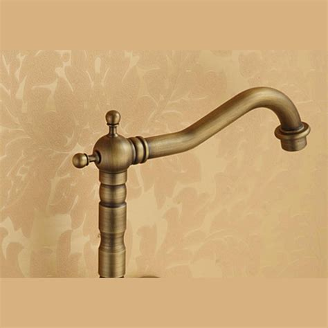 Affordable Antique Brass Two Hole Wall Mount Kitchen Faucets
