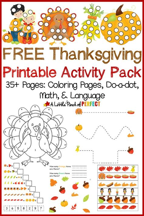 free thanksgiving printable activity pack including 378 | 0117e5021032a68385b1edc9663a89b4