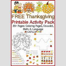 Free Thanksgiving Printable Activity Pack Including