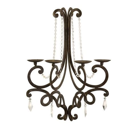 tuscan shabby country brown candle chandelier wall