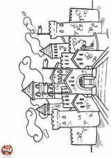 Coloring Coloriage Chateau Castle Tfou Magique Drawing Kleurplaten Sheets Desenhos Magnolia Colouring Stempels Lovag Daina Ausmalbilder Crafting Rajzok Var Ridders sketch template