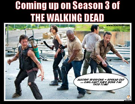 Walking Dead Memes Season 3 - the walks dead dead seasons walks dead humor carl walking dead funny funny stuff walking