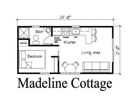 12 X 24 Cabin Floor Plans