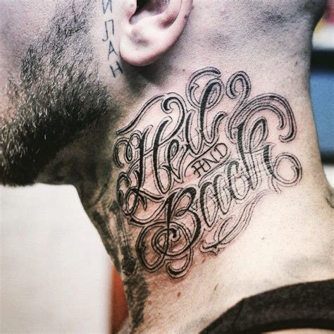 hell   calligraphy lettering tattoo  theosone