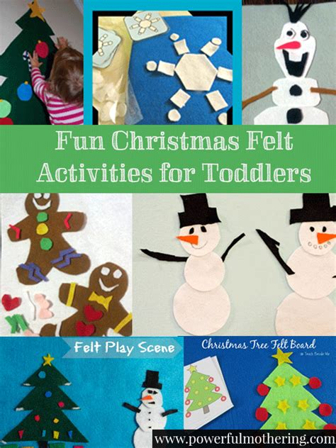 christmas activity forwork felt activities for toddlers