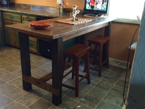 kitchen island farm table counter height farm house table kitchen tutorials 5065
