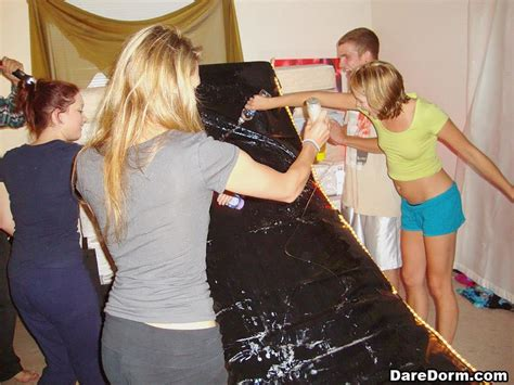 Hot College Girls Have Some Fun At A Dorm Party